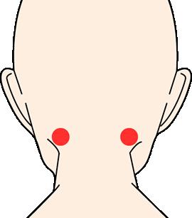 髪の生え際の首のくぼみの部分に効かせやすいです。