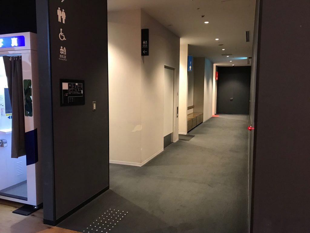 グランフロント大阪北館4階の授乳室前